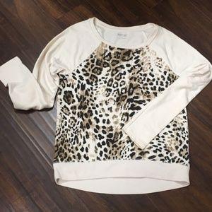 Leopard sweatshirt-cream/brown/black-XS